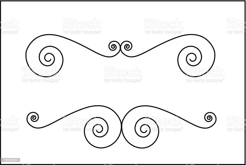 Curly Border  ( Vector ) royalty-free stock vector art