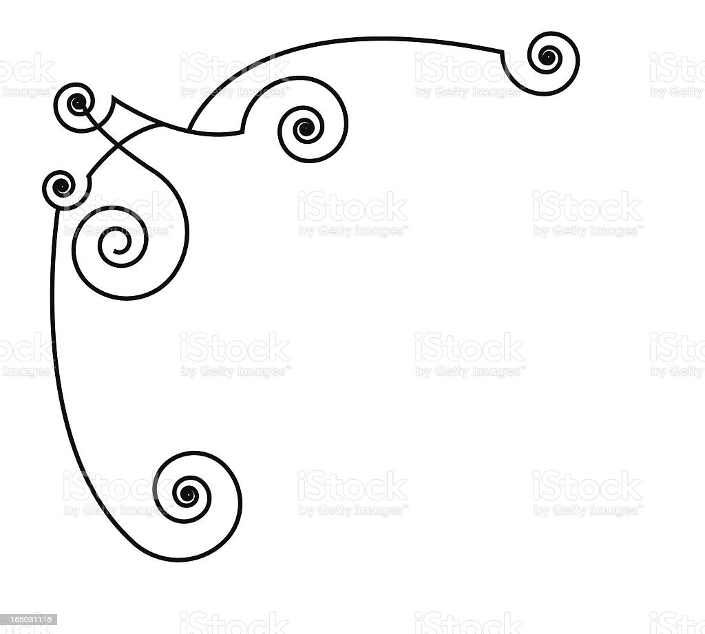Curly Corner Accent ( Vector ) royalty-free stock vector art
