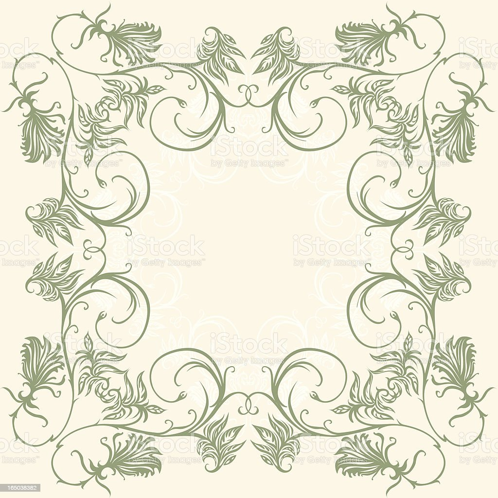 curly frame royalty-free stock vector art
