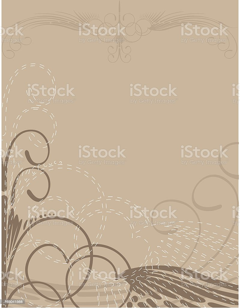 Curly Motif royalty-free stock vector art