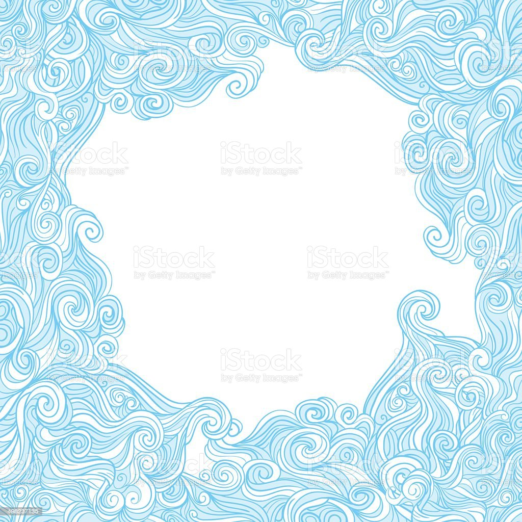 Curly template vector art illustration