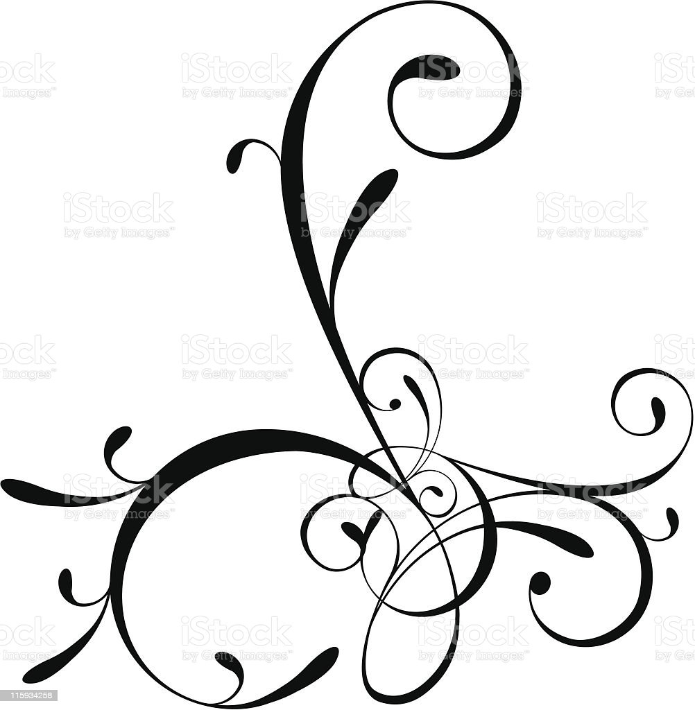 Curly royalty-free stock vector art