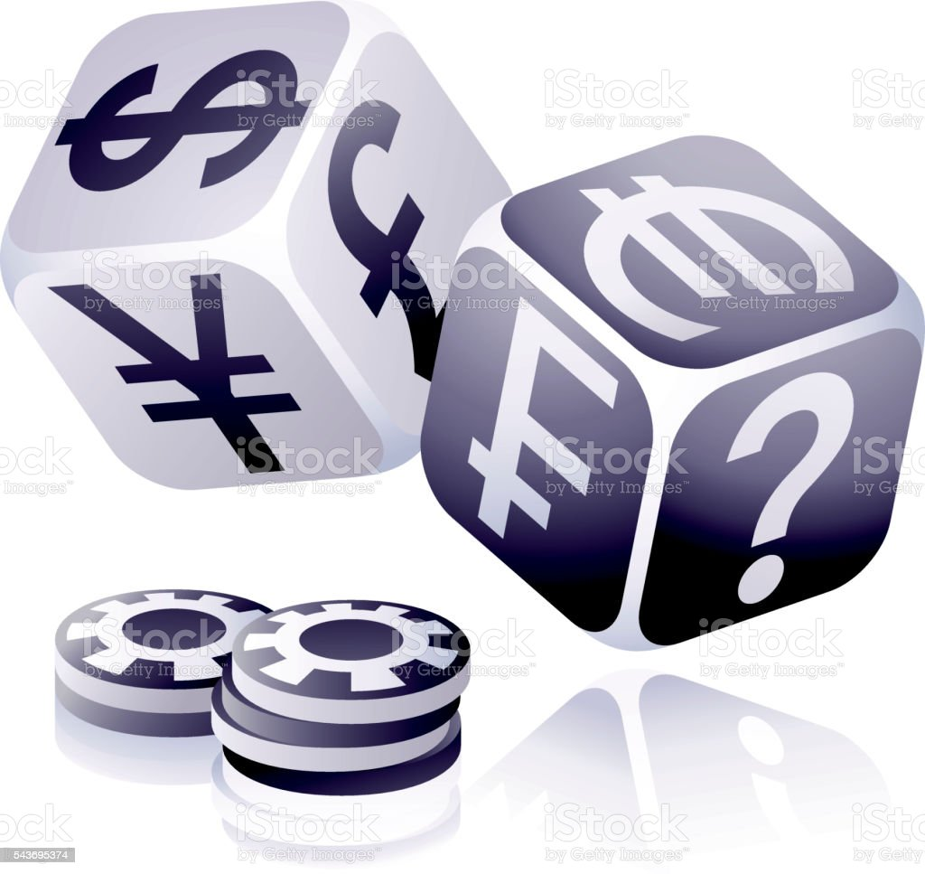 Currency and Foreign Exchange Gambling vector art illustration