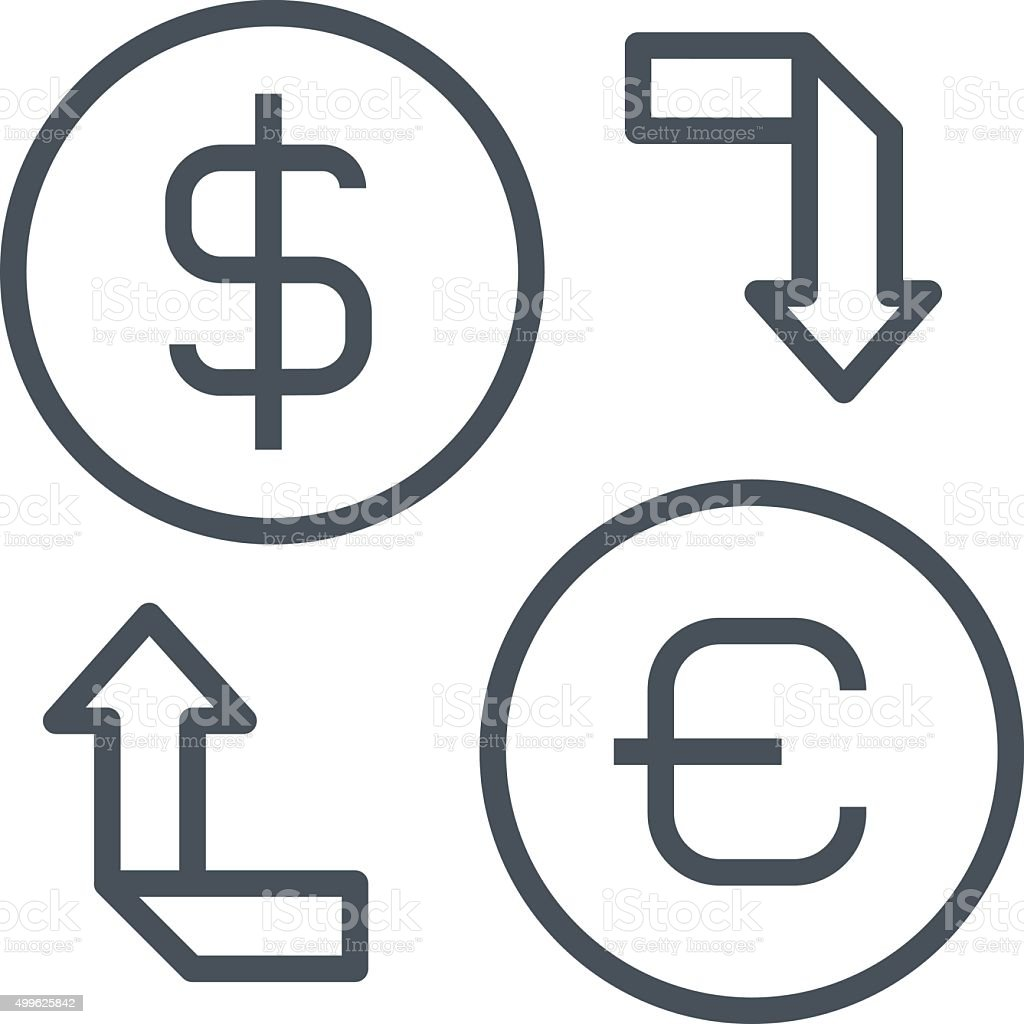 Currency exchange icon vector art illustration