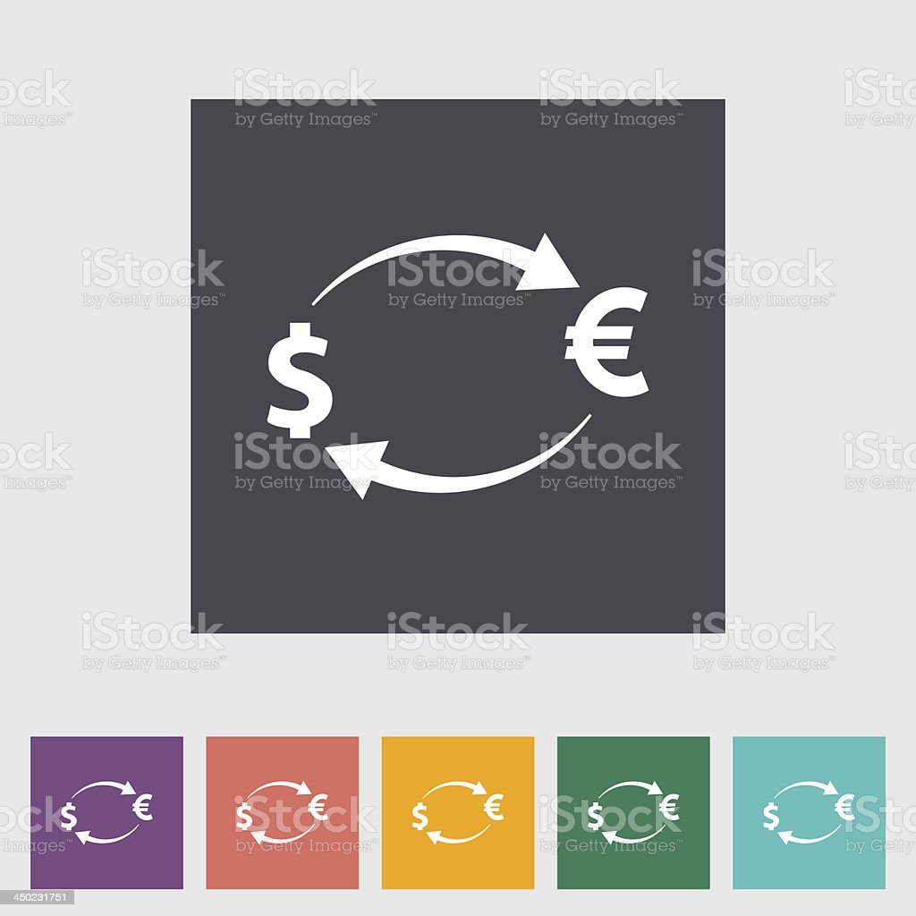 Currency exchange single flat icon. royalty-free stock vector art