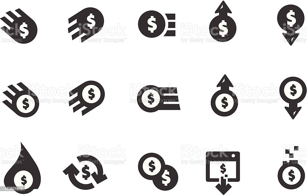 Currency Icons royalty-free stock vector art