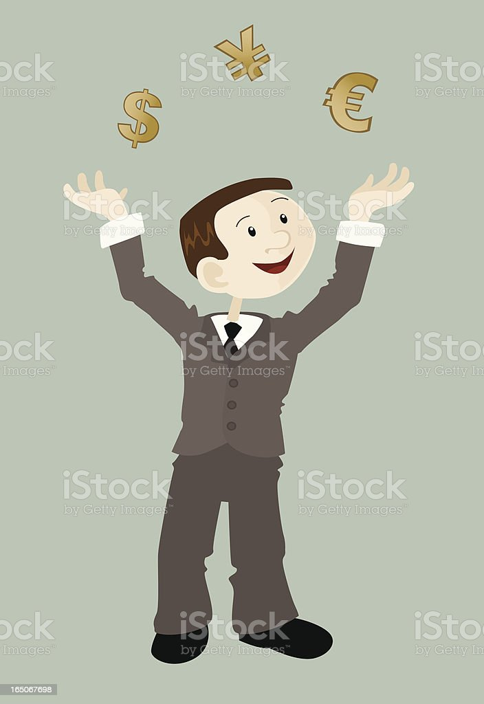 Currency Juggler 01 royalty-free stock vector art
