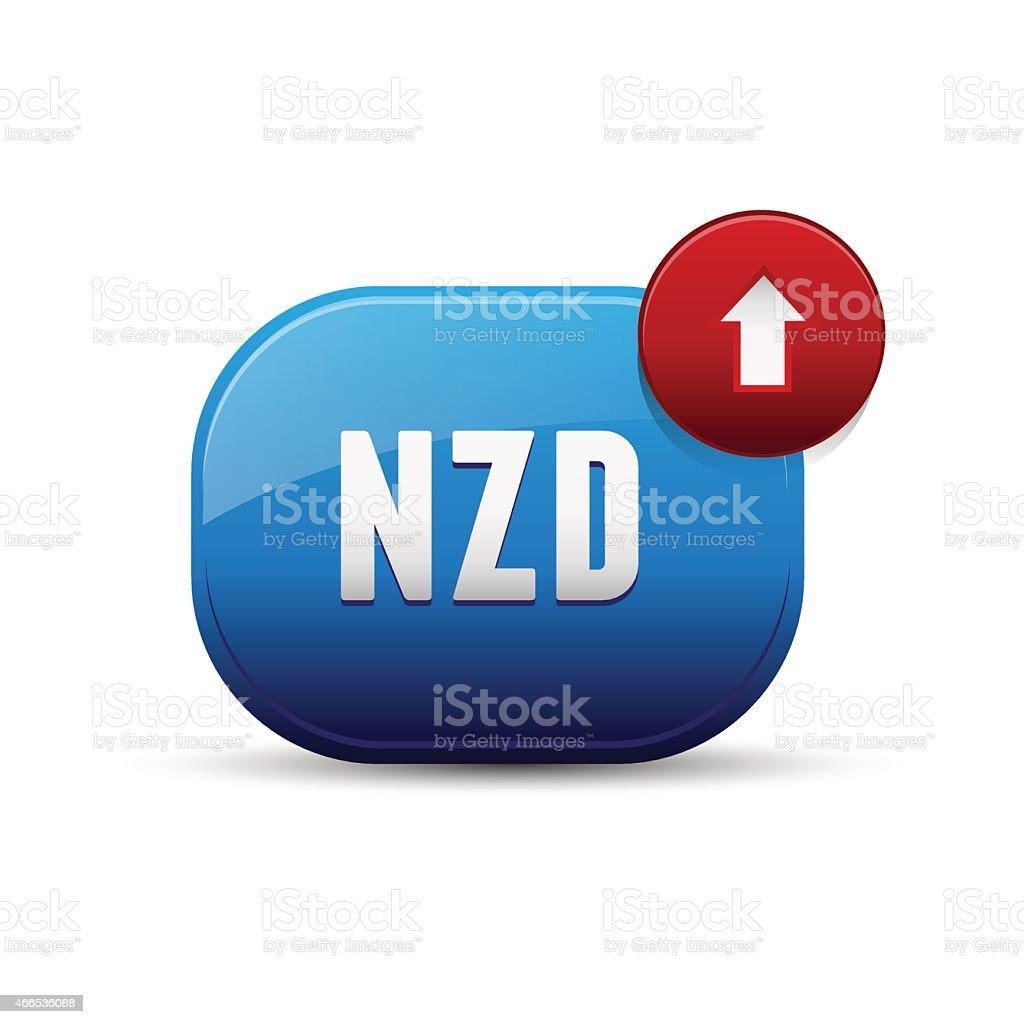 NZD currency - New Zealand Dollar vector art illustration