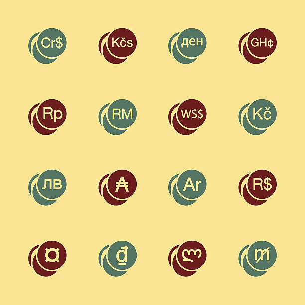 Clip Art Of A Asian Currency Symbols Clip Art Vector Images