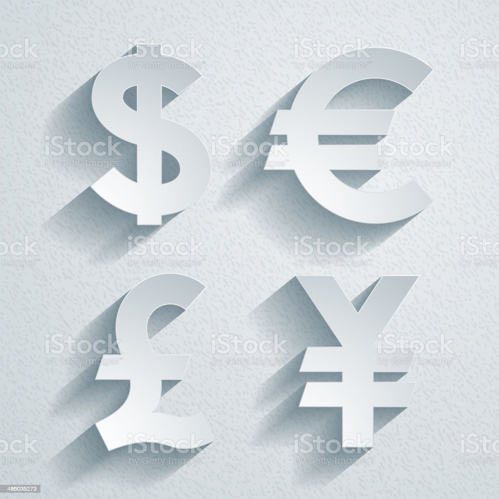 Currency symbols royalty-free stock vector art