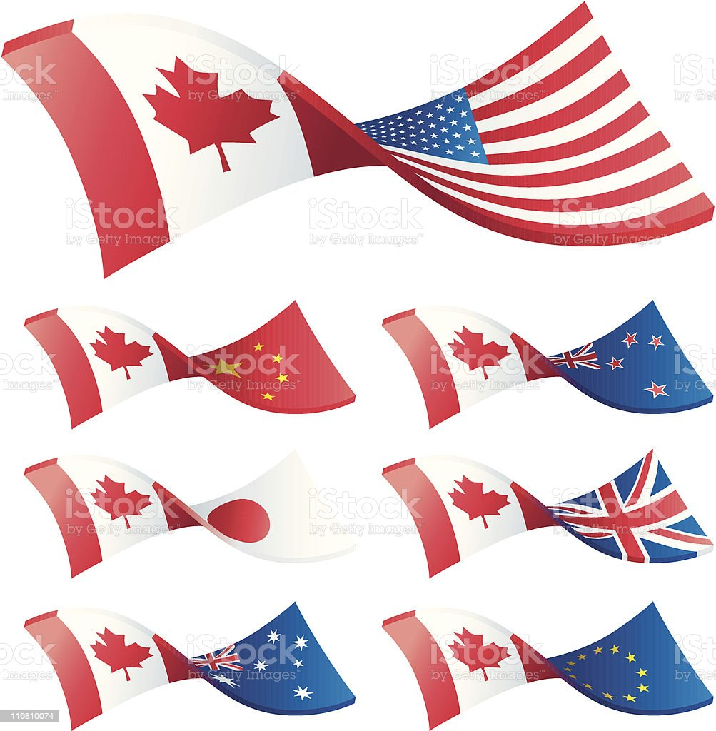 Currency Trading Pairs - Canada vector art illustration