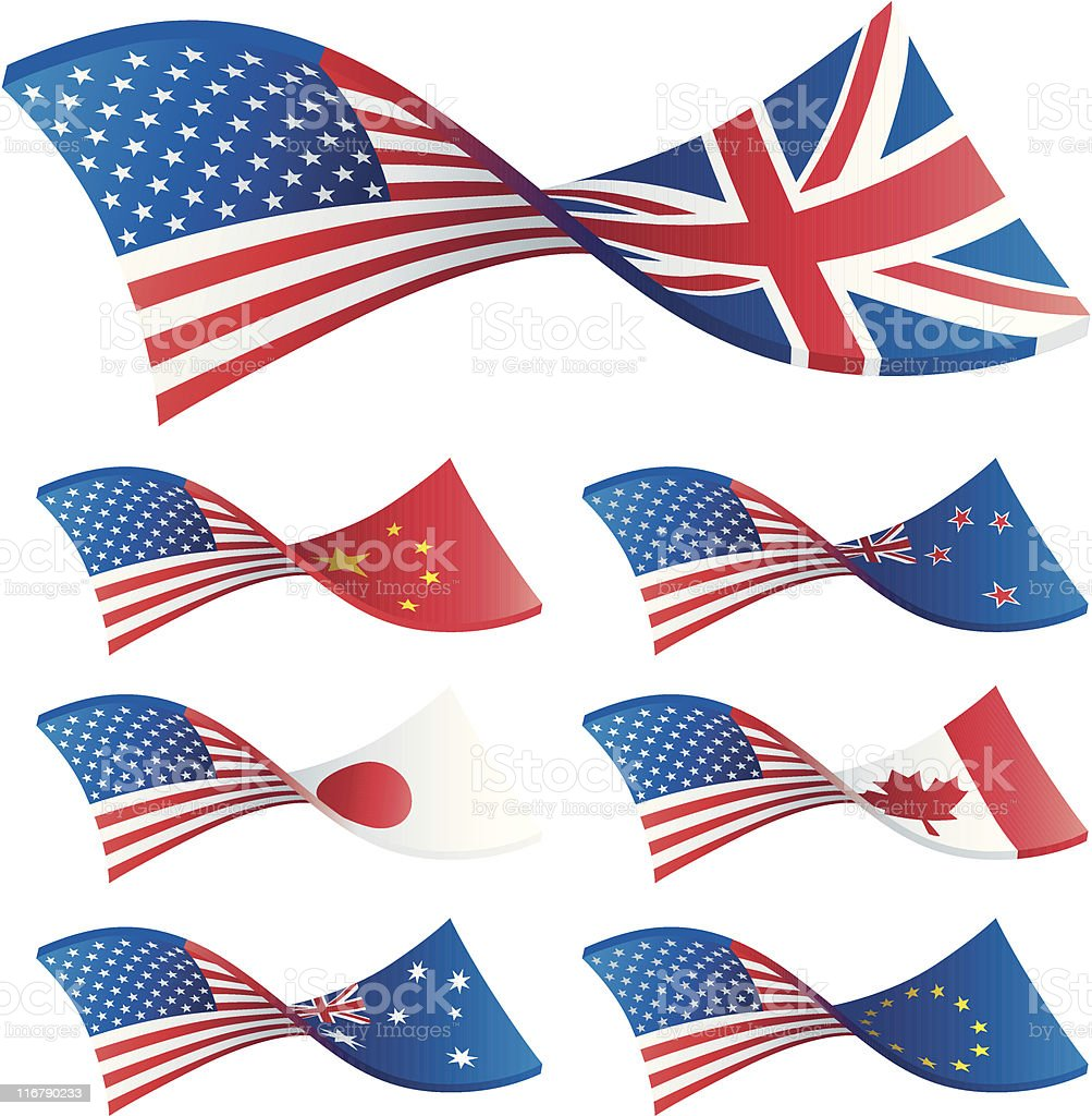 Currency Trading Pairs - US royalty-free stock vector art
