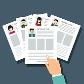 curriculum vitae, recruitment candidate, choose business people to hire