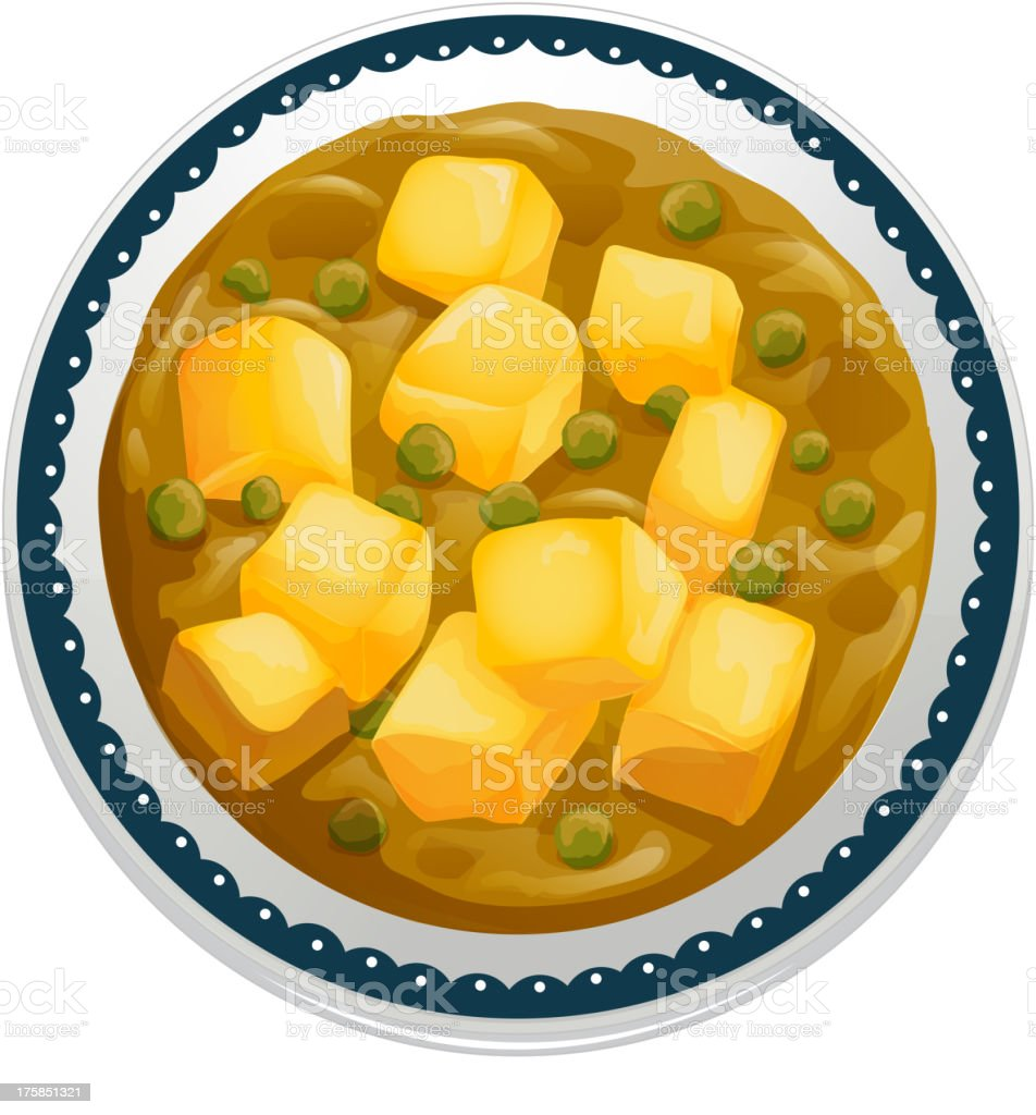 curry paneer royalty-free stock vector art