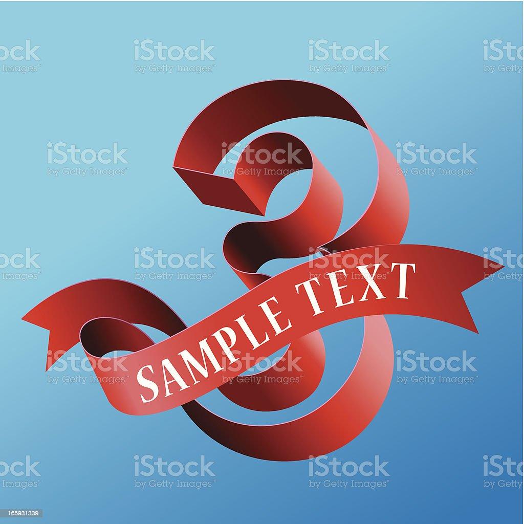 Cursive Ribbon Bold Number 03 royalty-free stock vector art