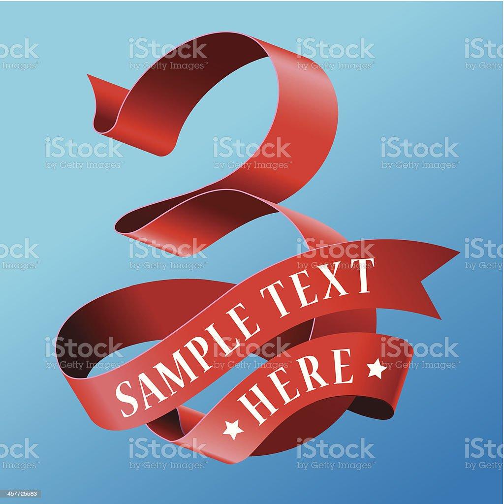 Cursive Ribbon Number 03 royalty-free stock vector art