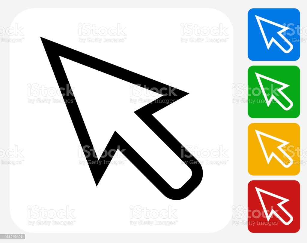 Cursor Icon Flat Graphic Design vector art illustration