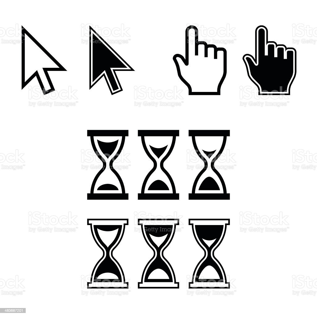 Cursor Icons. Mouse Pointer Set. Vector vector art illustration