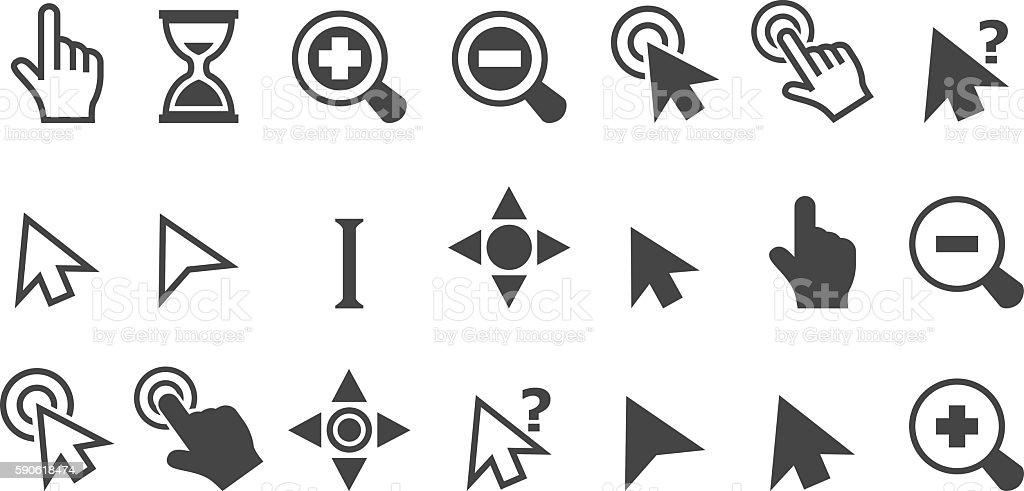 Cursor pointer icons vector art illustration