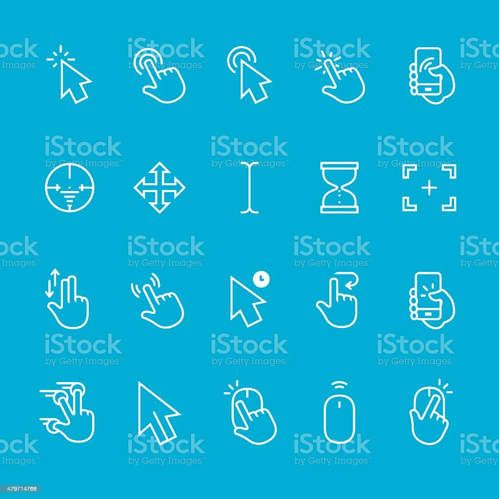 Cursor vector collection vector art illustration