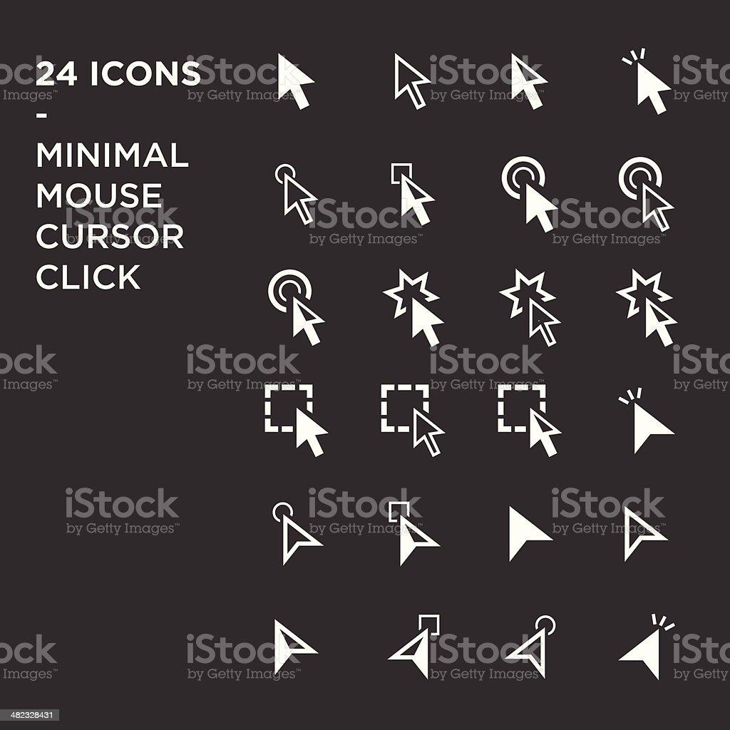 cursors icons: mouse hand arrow vector art illustration