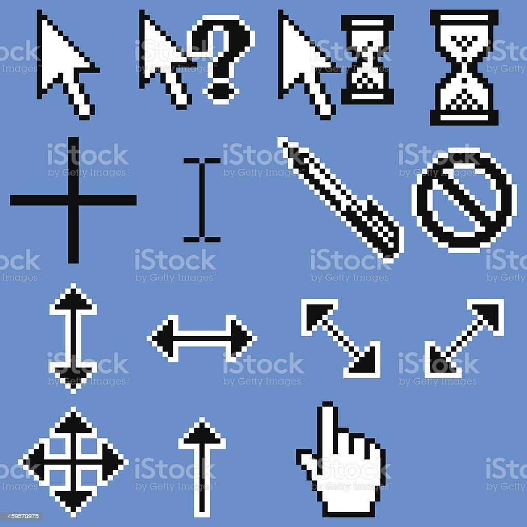 cursors vector art illustration