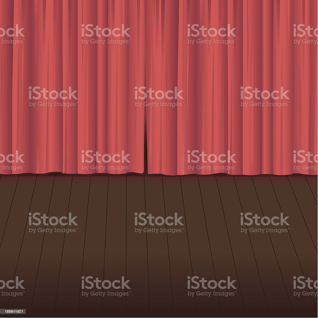 Curtain Call vector art illustration