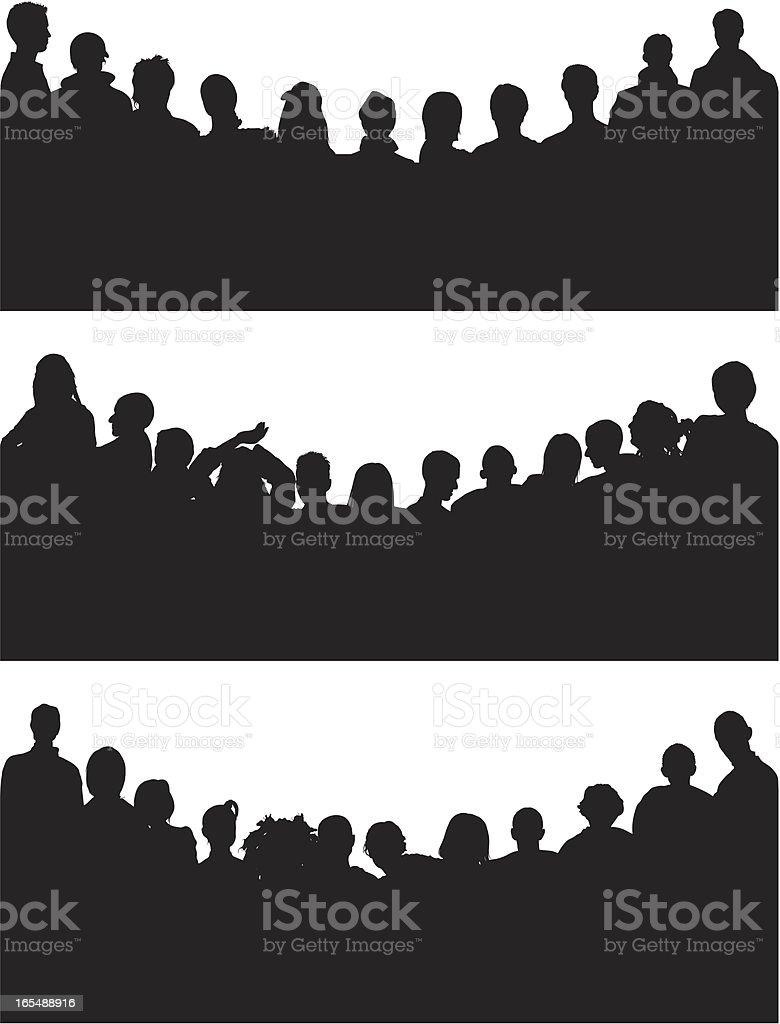 Curved Crowds royalty-free stock vector art