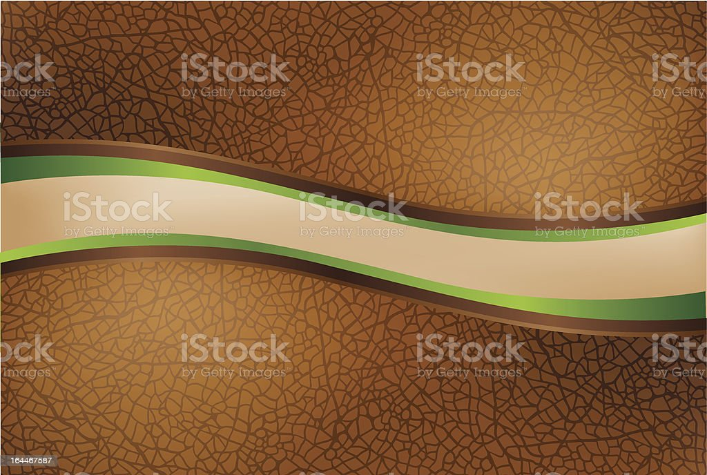 Curved leather header or footer royalty-free stock vector art