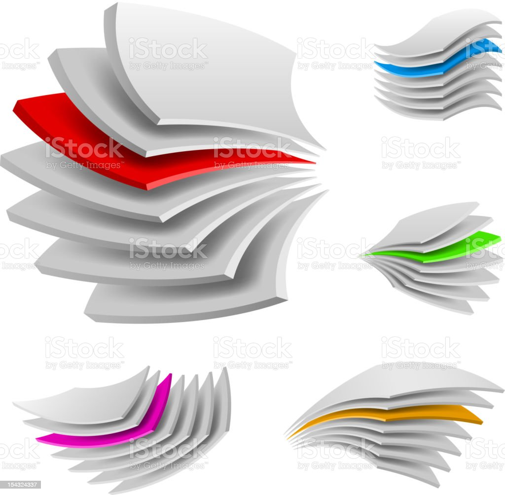 Curved Multi layers. vector art illustration