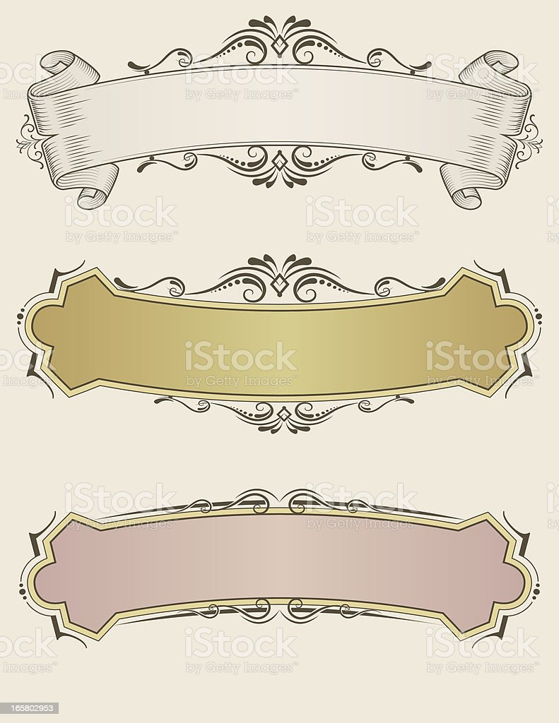 Curved Ribbon Banners royalty-free stock vector art