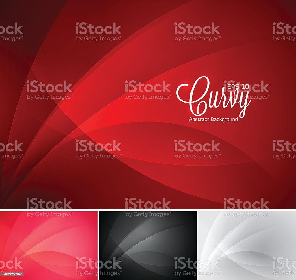 Curvy abstract background vector art illustration
