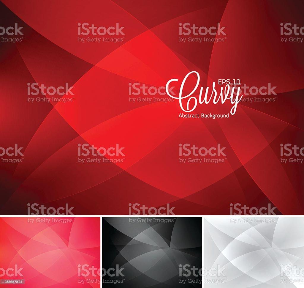 Curvy abstract background vector art illustration