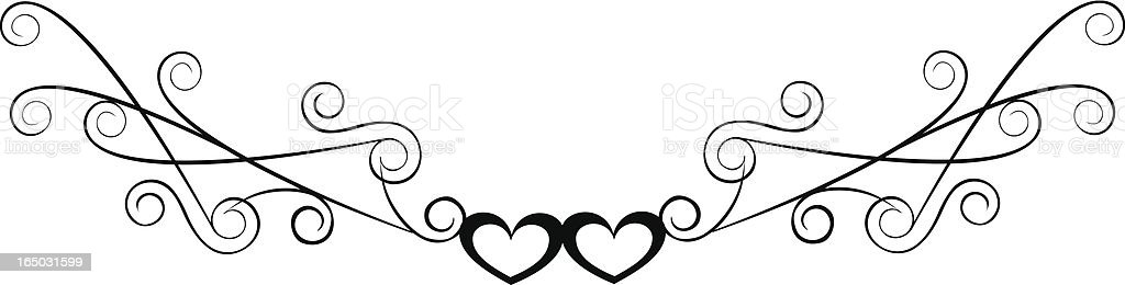 Curvy heart accent ( Vector ) royalty-free stock vector art
