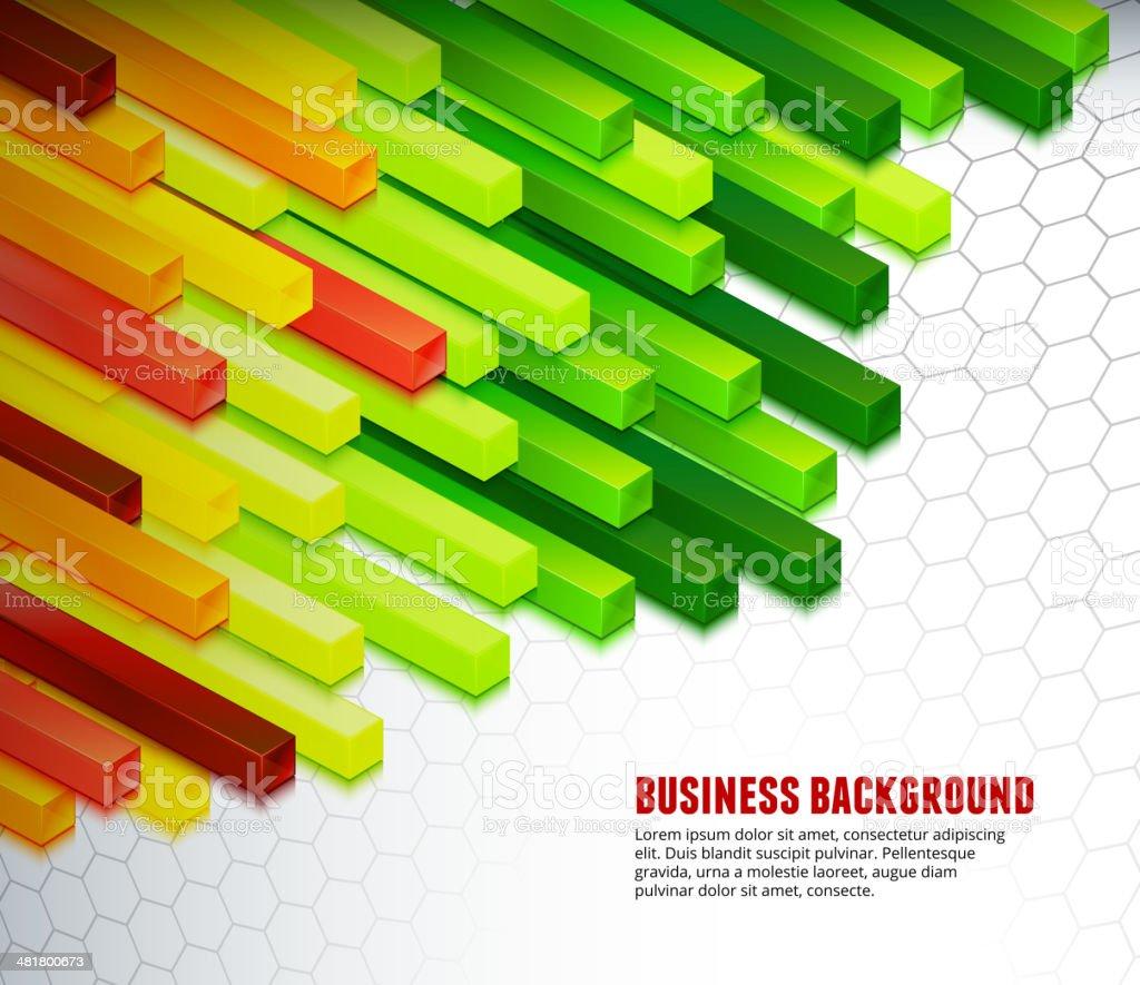 Custom Bars on Business Background royalty-free stock vector art