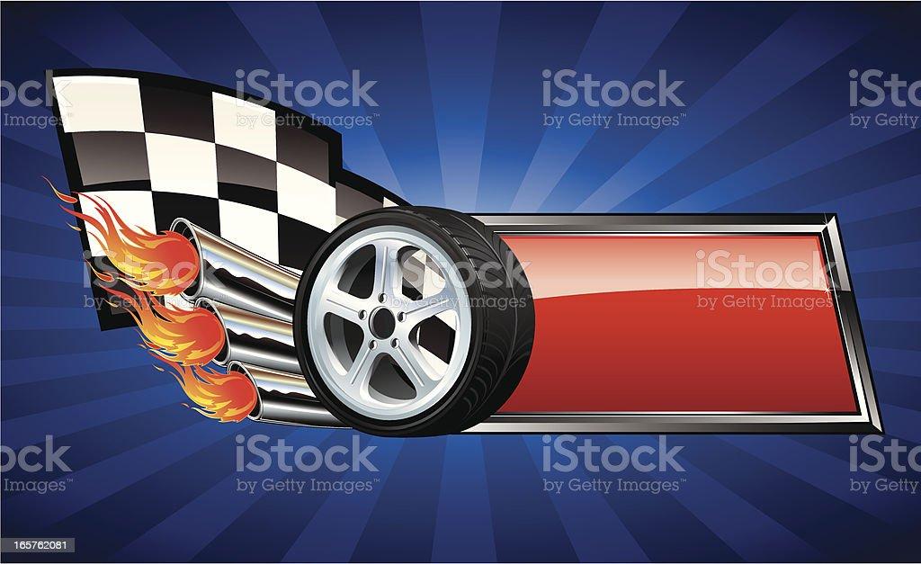 Custom car racing plaque royalty-free stock vector art
