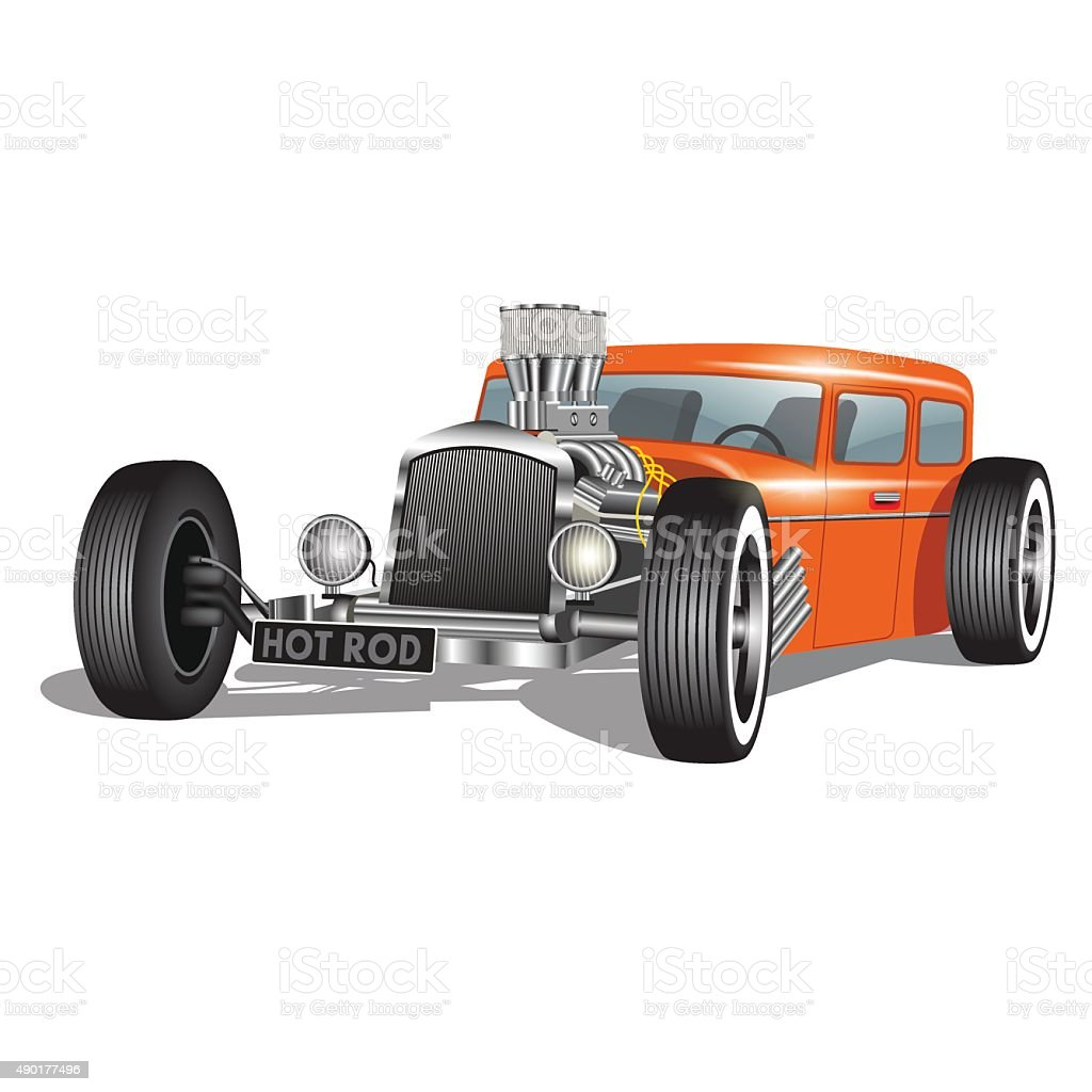 Custom car vector art illustration