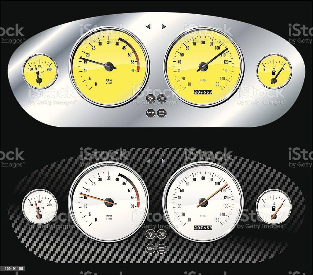 Custom dashboards vector art illustration