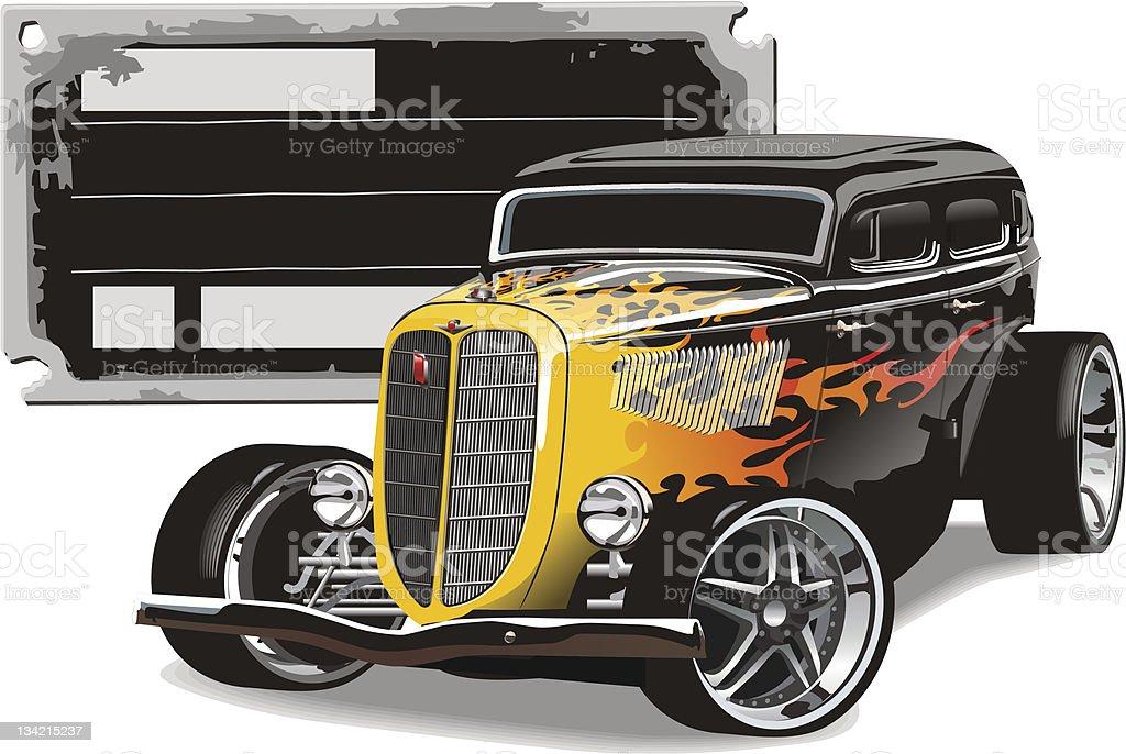 Custom Hotrod royalty-free stock vector art