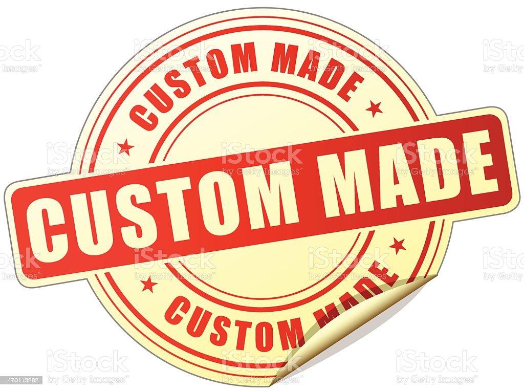 custom made label vector art illustration