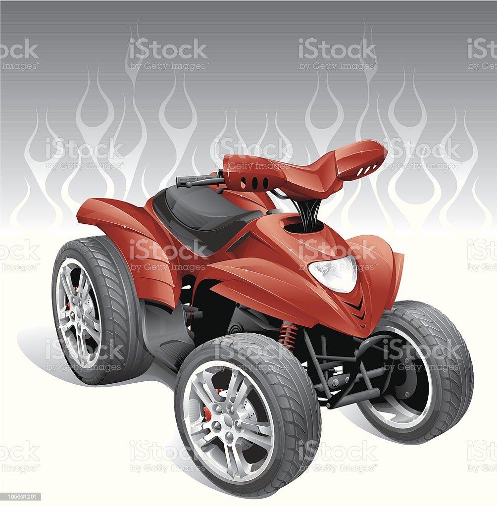 custom Quadbike royalty-free stock vector art