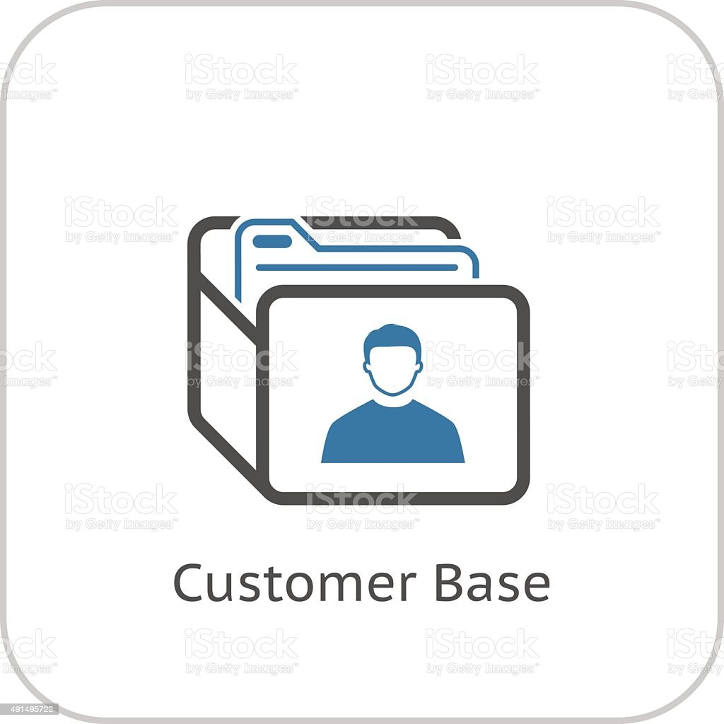 Customer Base Icon. Business Concept. Flat Design. vector art illustration
