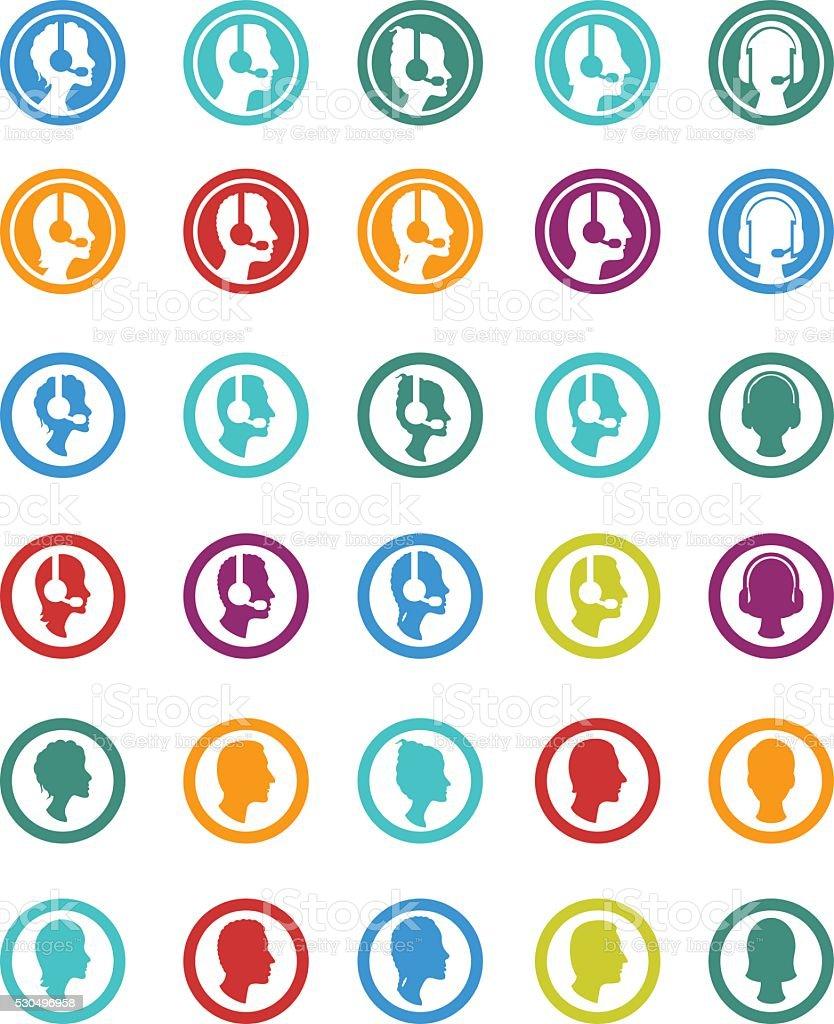 Customer care service vector art illustration