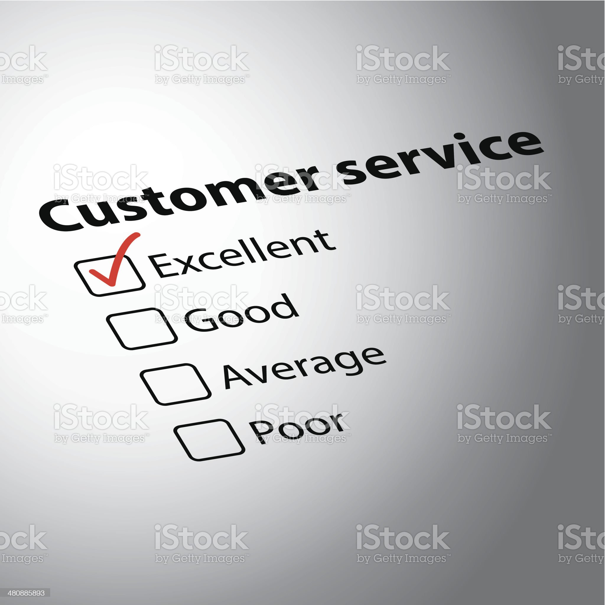 Customer evaluation form royalty-free stock vector art