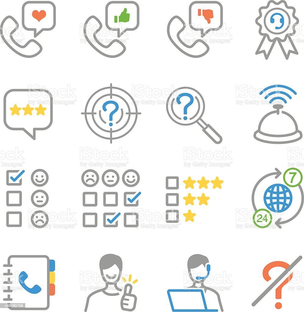 Customer feedback icons vector art illustration