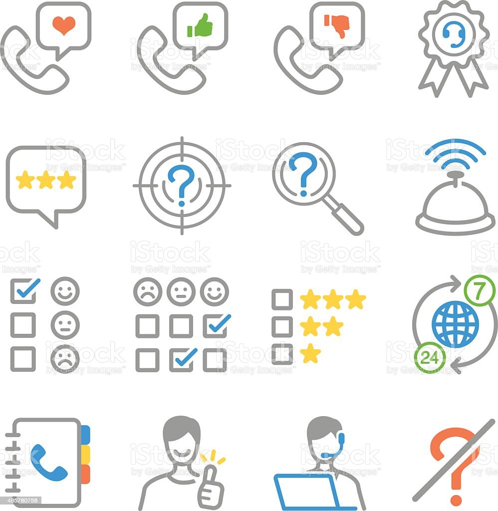 Customer feedback icons vector art illustration