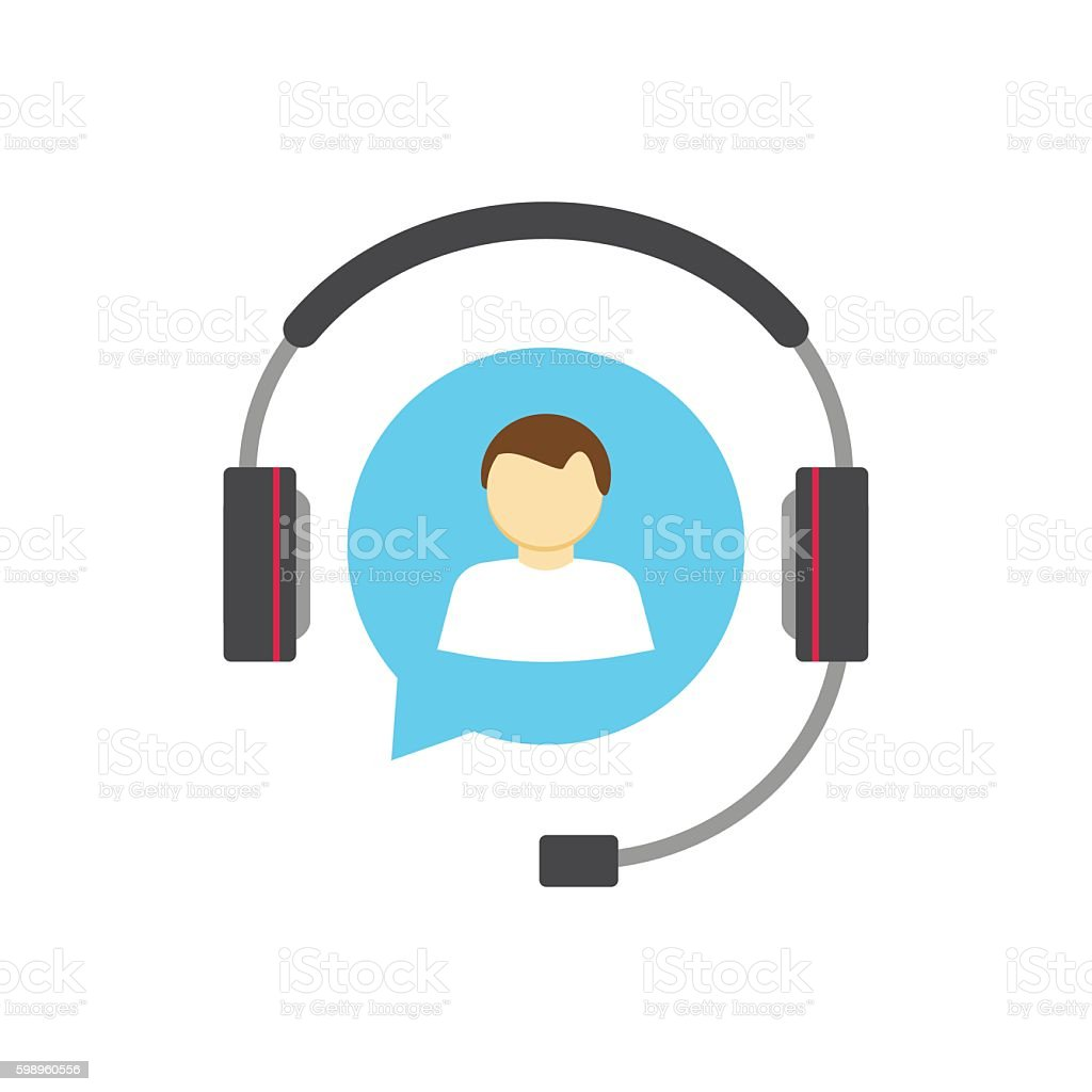 Customer help desk logo concept, support service vector icon isolated vector art illustration