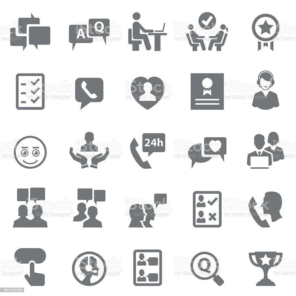 Customer relationship icons vector art illustration