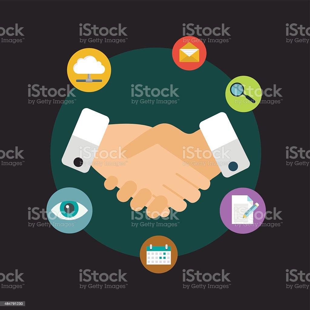 Customer Relationship Management - vector illustration vector art illustration