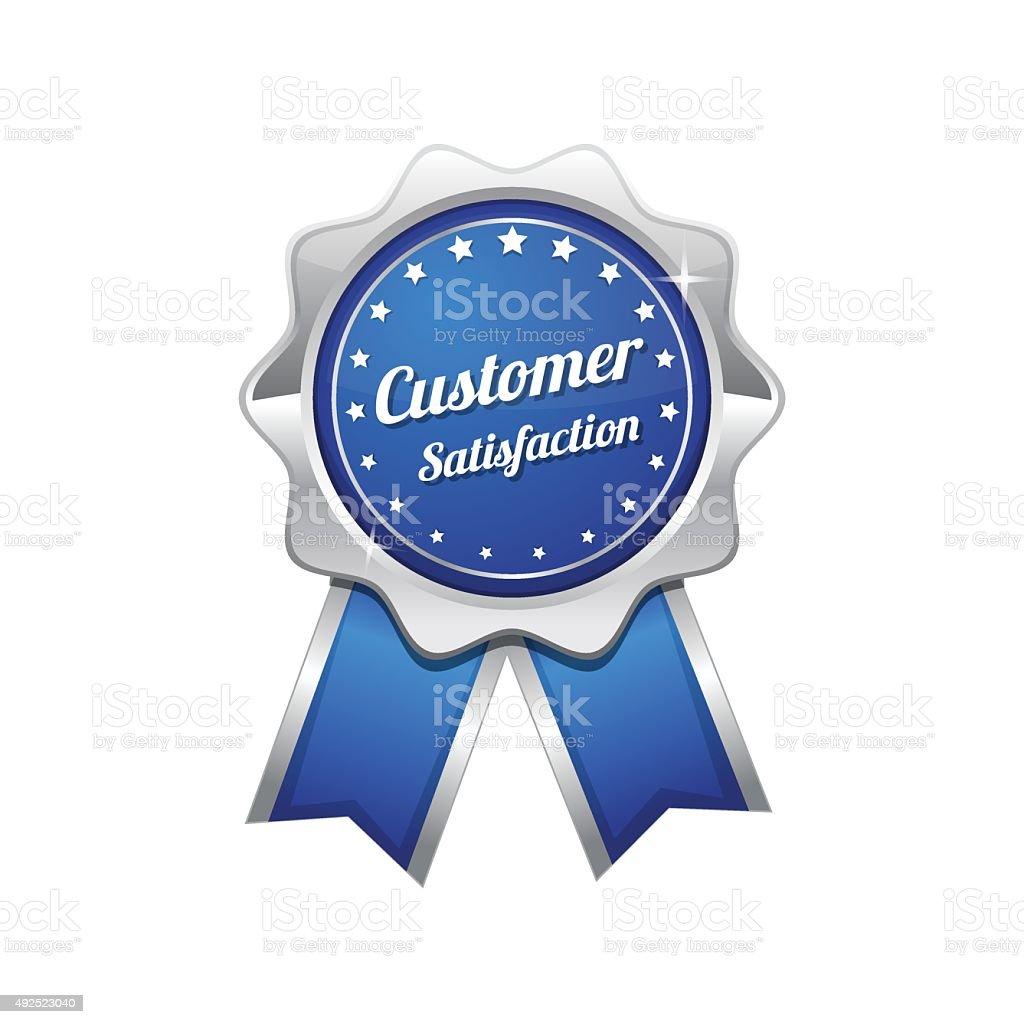 Customer Satisfaction Blue Vector Icon Design vector art illustration